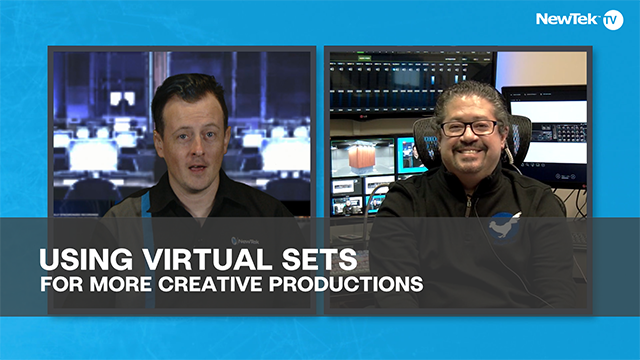 Using virtual sets for more creative productions
