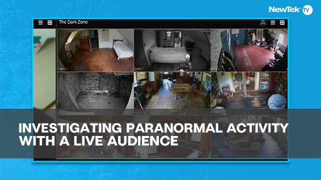 Investigating paranormal activity with a live audience
