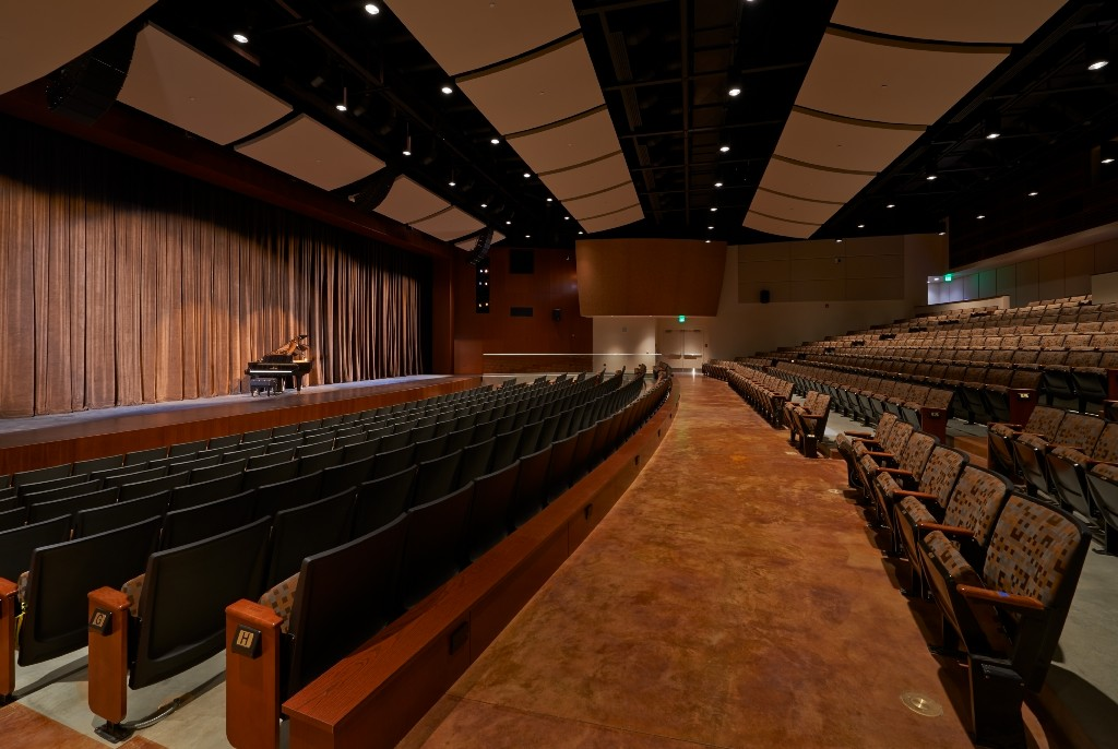 Inside the PYLUSD Performing Arts Center Side View