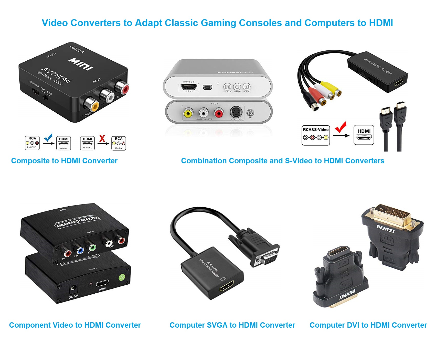 Video Converters for Classic Gaming Consoles and Computers