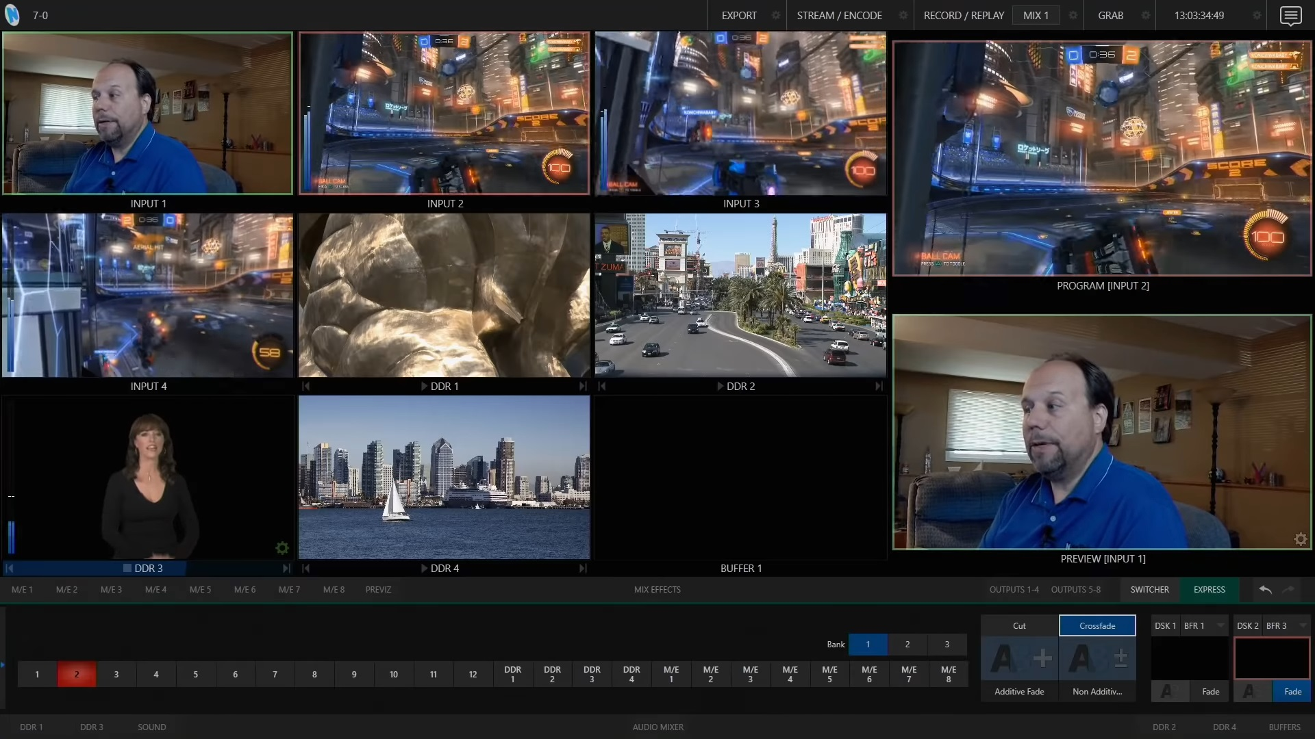 TriCaster TC1 Live Production Interface - Express Switcher mode