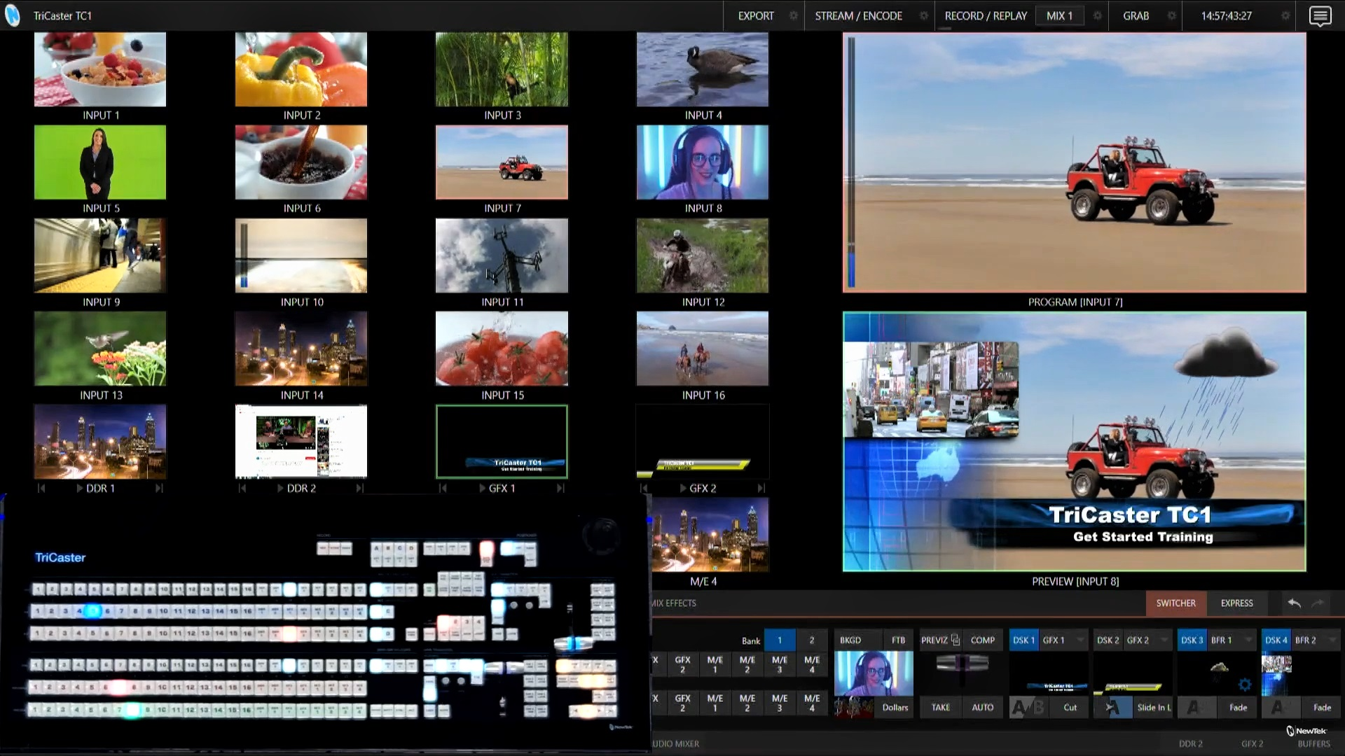 Screenshot of DSK Overlays for TriCaster TC1