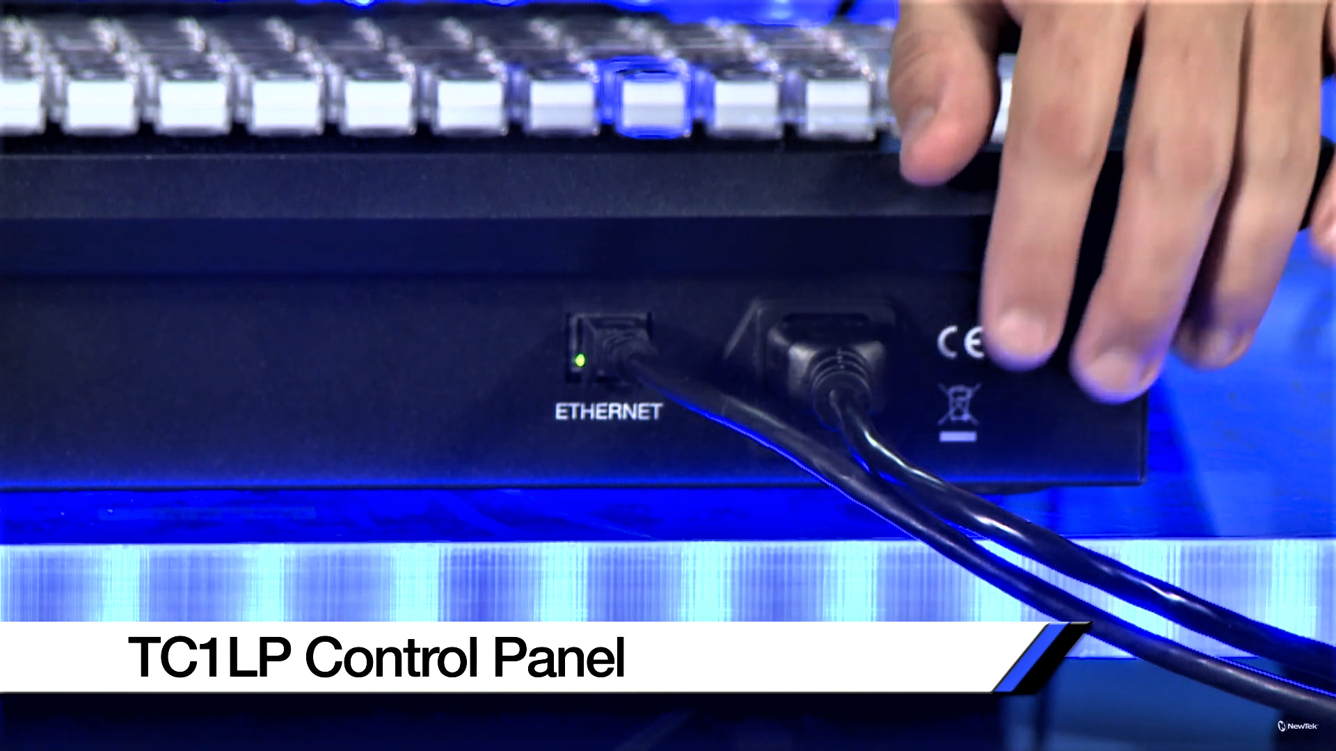 TriCaster TC1 Long Panel Control Surface, Ethernet Port, Power Port