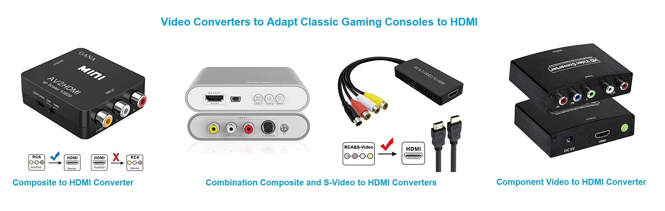 Video Converters for Classic Game Consoles