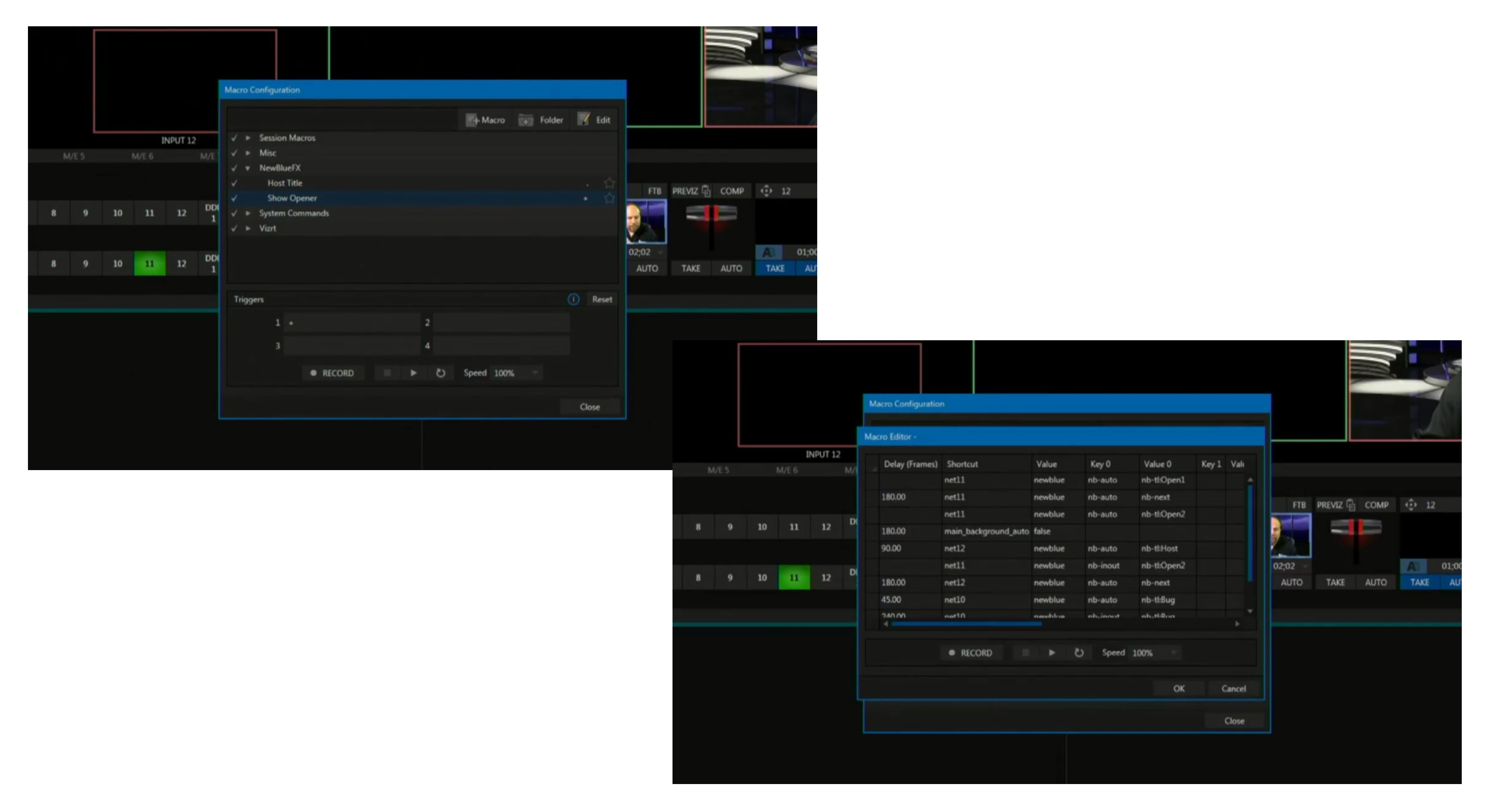 TriCaster Macro Panels