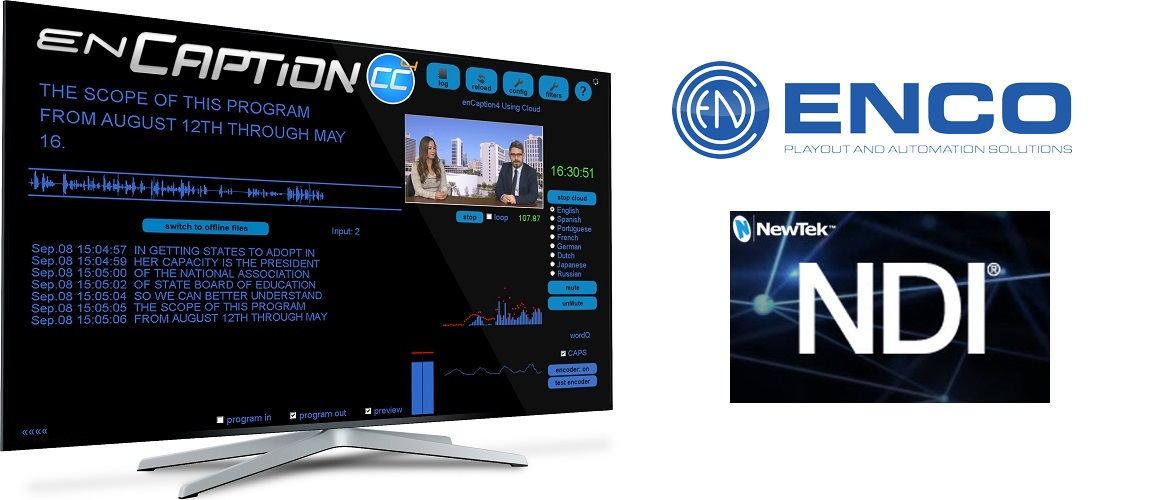 ENCO Breaks New Ground with NDI® Support in Live Captioning Workflows