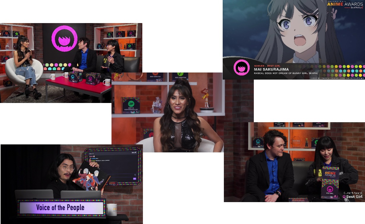 Crunchyroll Anime Awards Show, Twitch Studio set.