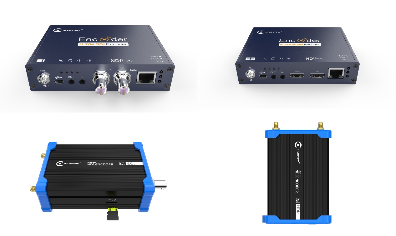 Kiloview SDI and HDMI to NDI encoders.