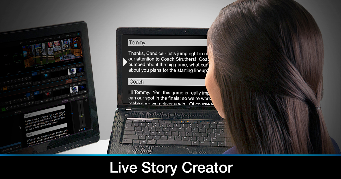 Live Story Creator Script Running in Teleprompter