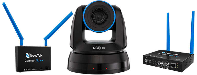 NewTek NDI PTZ1 Camera and NewTek Connect Spark HDMI and SDI