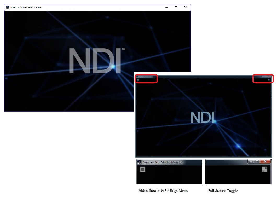 Using NewTek NDI® Studio Monitor