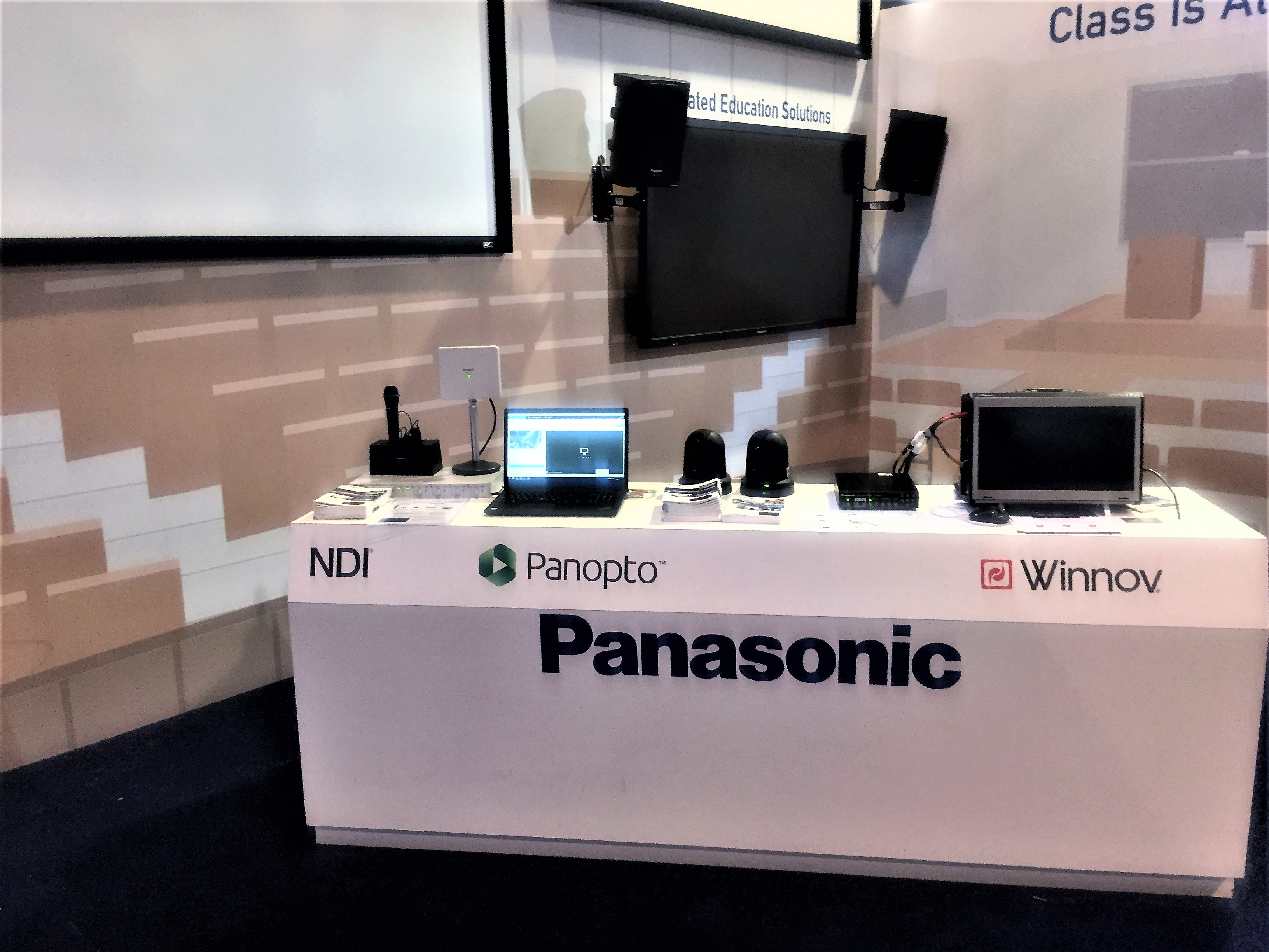Panasonic Systems displays NDI-enabled lecture capture partnerships at InfoComm 2018