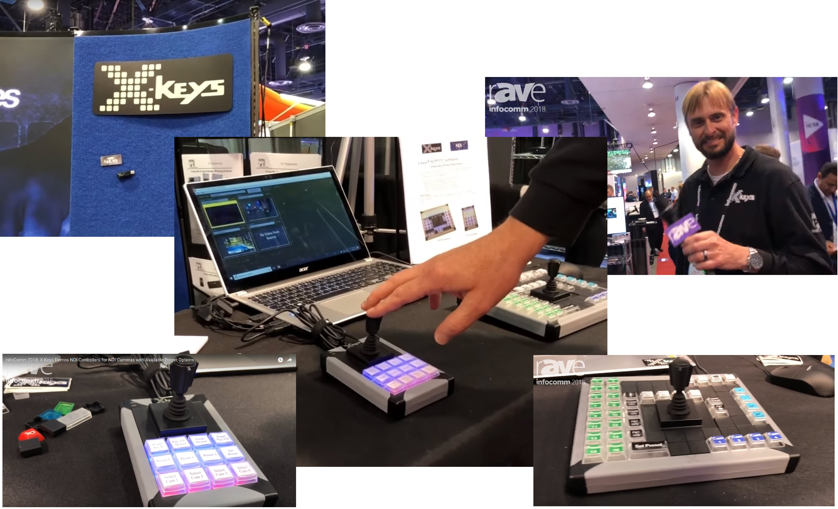 Demo images at XKeys booth at InfoComm 2018