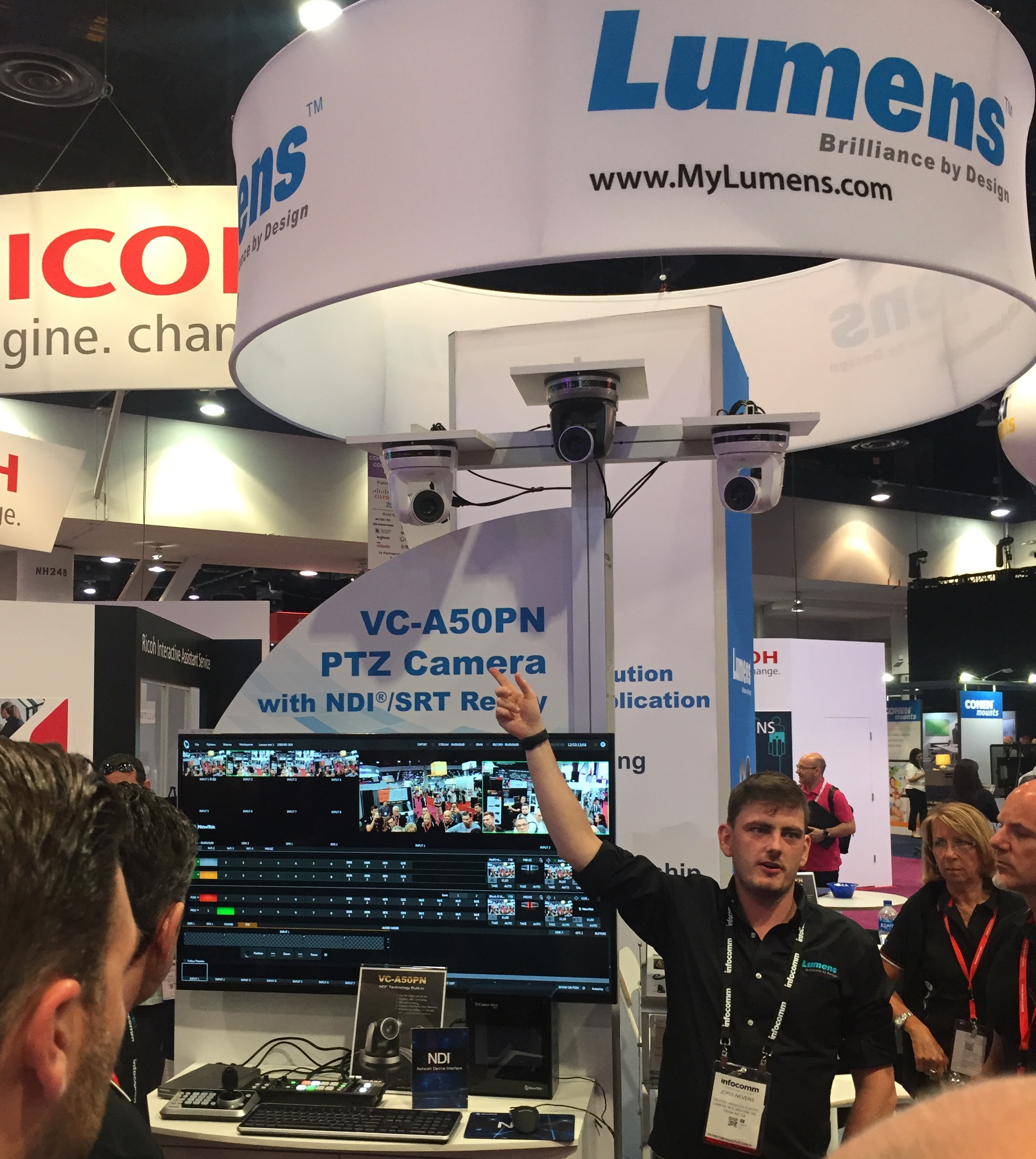 Lumens booth at InfoComm 2018