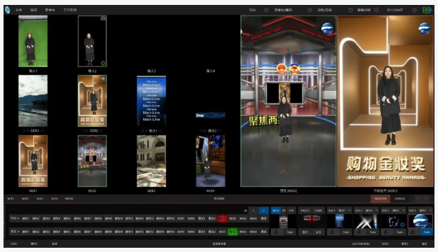 Some systems on the market only rotate the monitoring equipment by 90 degrees when making portrait videos, but NewTek TriCaster live production systems produce portrait videos in 9:16 from signal input to output.