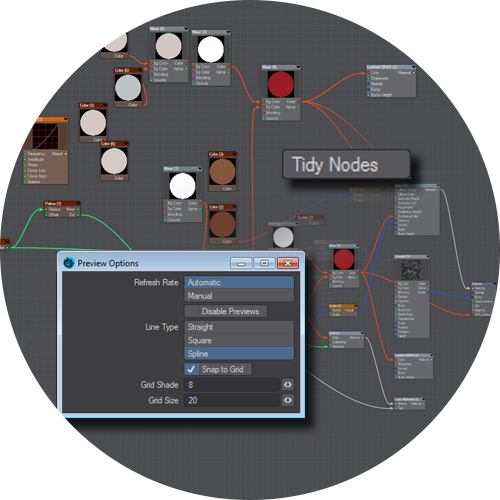 Node Graph UI Options | LightWave 3D