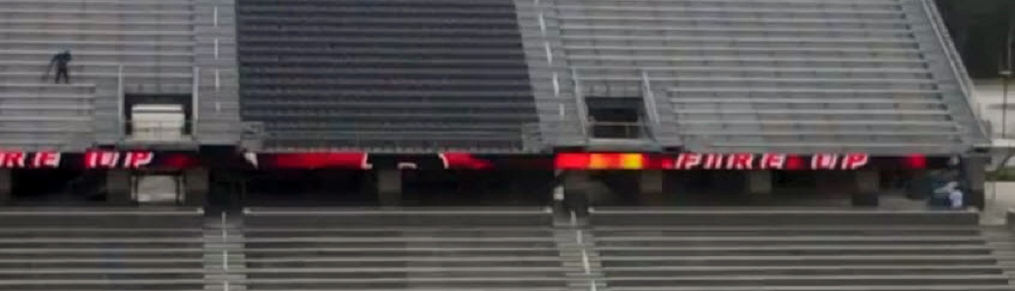 Texas Drive Stadium sports the first full-length video fascia in a high school stadium.
