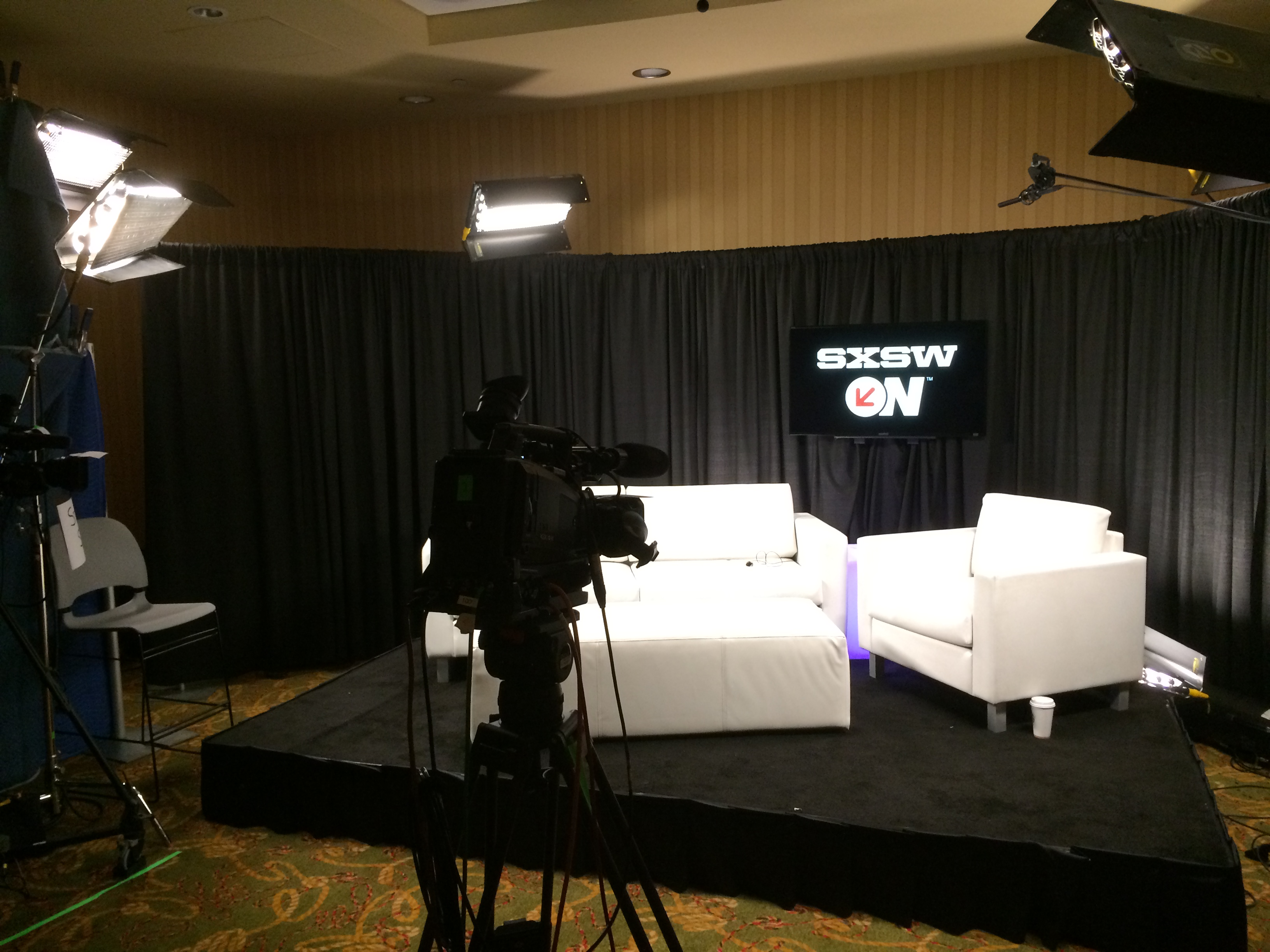 A look at the studio setup for the SXSW ON show.