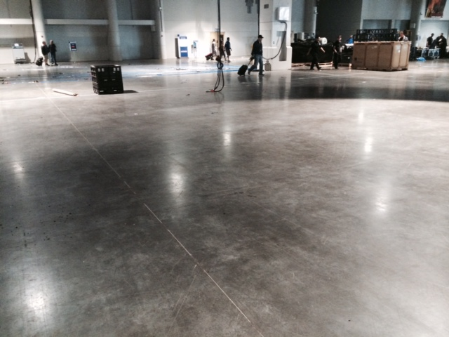 It all starts with space.  This is the future home of the NewTek Booth, #SL3312, for NAB 2015.