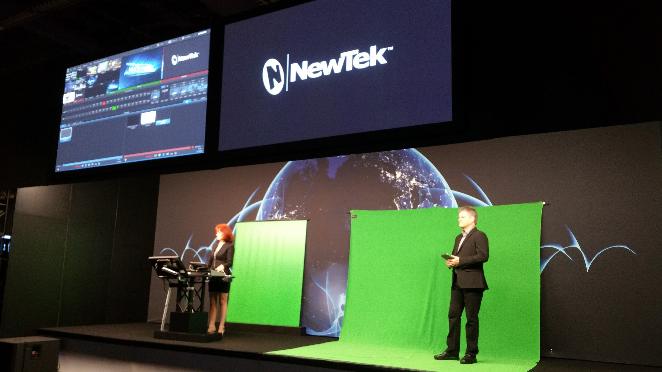 The legendary Kiki Stockhammer and Rex Olson opened NewTek's NAB 2015 with the first presentation of the day.