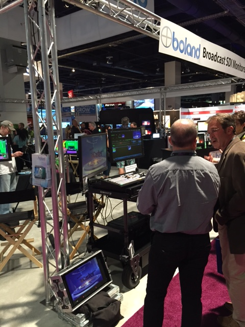 NewTek TriCaster is featured in many other booths at NAB this year. Here is TriCaster in the Boland booth.