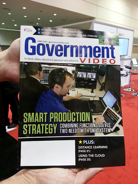 The combined production truck/ERC-V is the cover story for the June 2015 issue of Government Video.