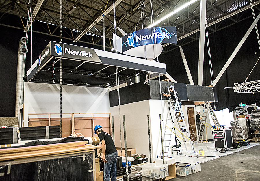 NewTek IBC Stand buildout, Day 1.