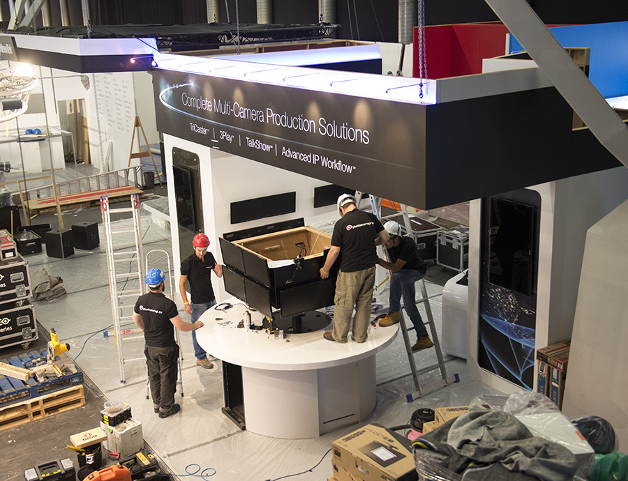 NewTek IBC Stand buildout, Day 2.