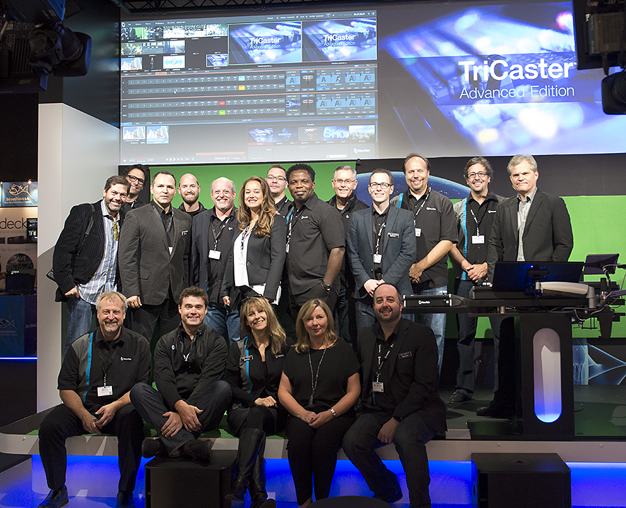 The NewTek Team at IBC 2015.