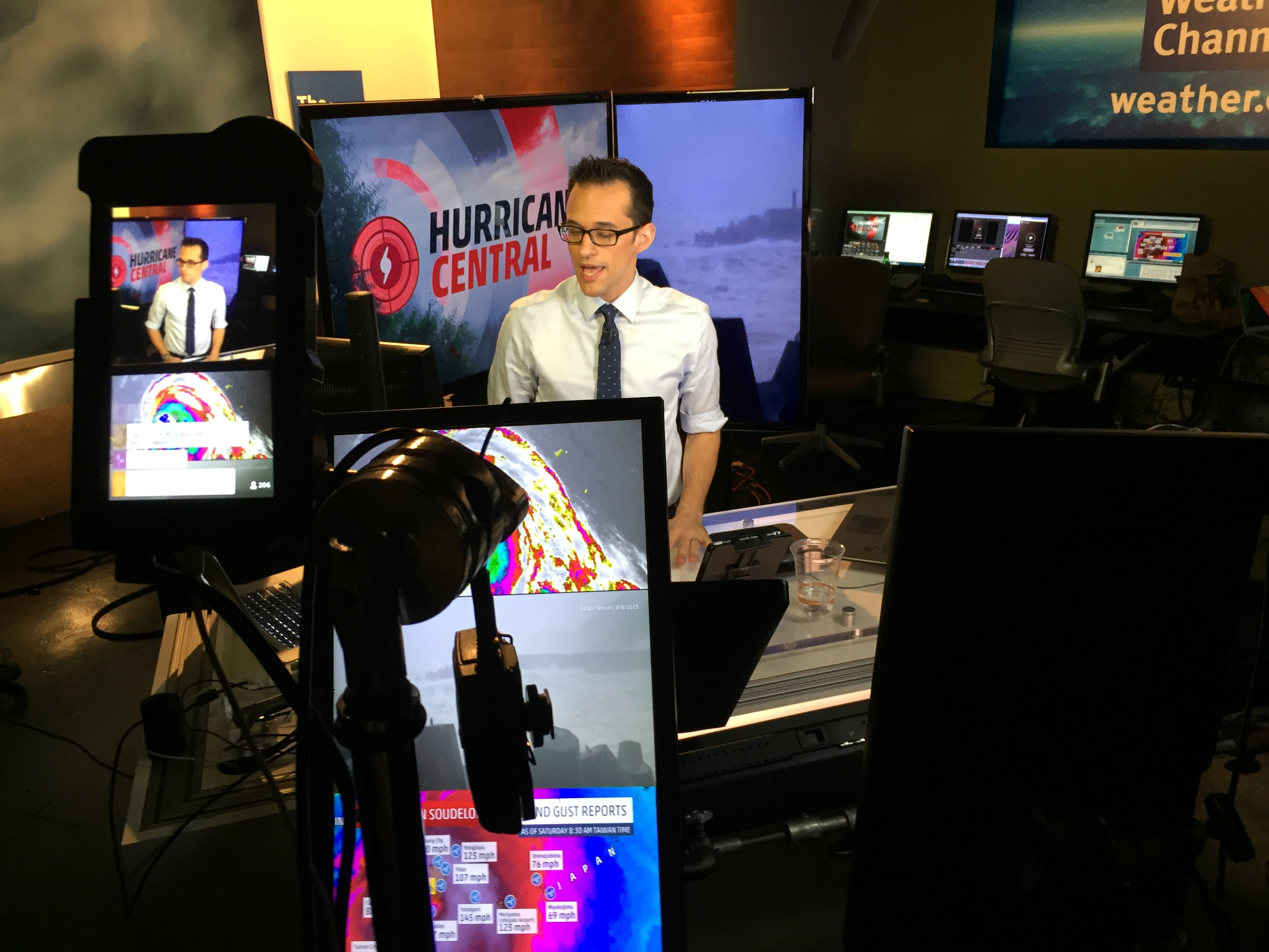 Meteorologist Ari Sarsalari Periscopes Live Using a TriCaster ME in Atanta's Studio 2A
