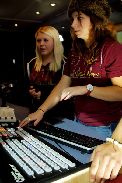 Rouse HS TX students operate the TriCaster.