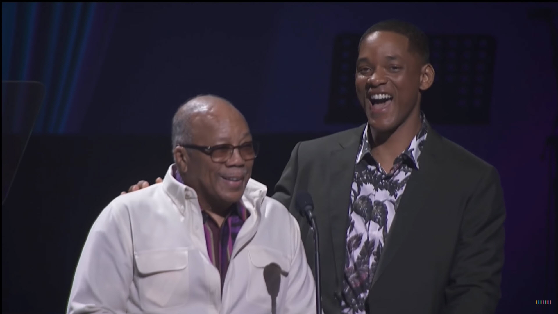 Will Smith and Quincy Jones.