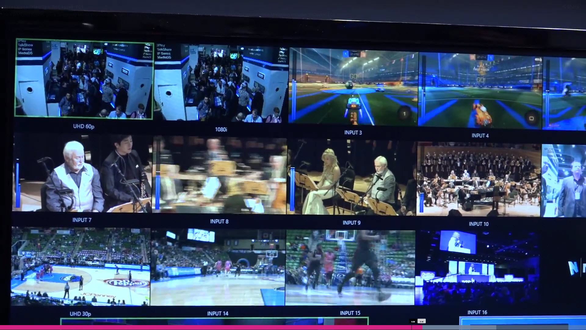 Portion of the multi-viewer window in the TriCaster TC1 UI.