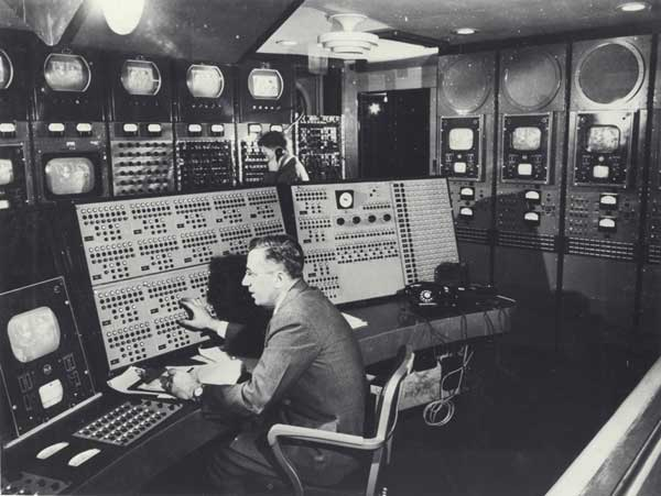 Early NBC-TV master control room.