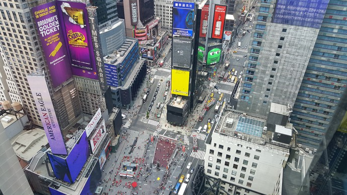 View of Times Square from Viacom offices.