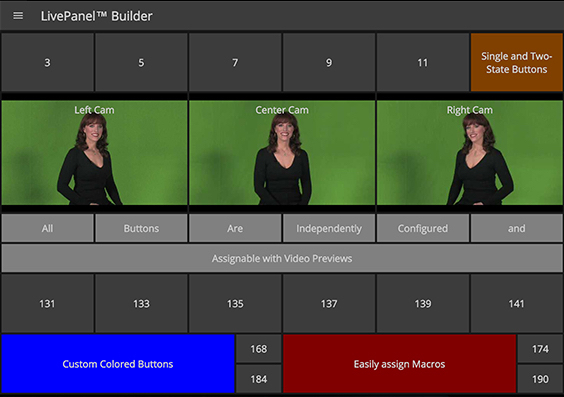 LivePanel Builder interface.