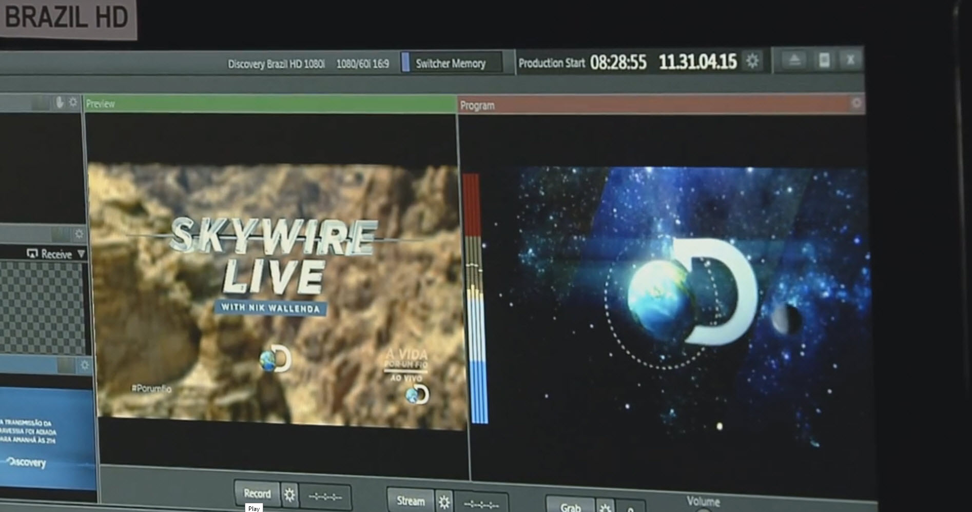 Discovery Channel HD for Brazil included narration and CG text in Portuguese, as well as ad packages specific for the Brazilian audience.  Each of the broadcast streams was similarly customized.