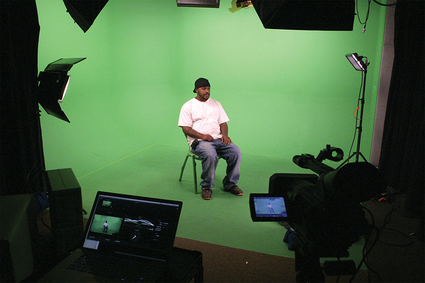 chroma key green screen video production