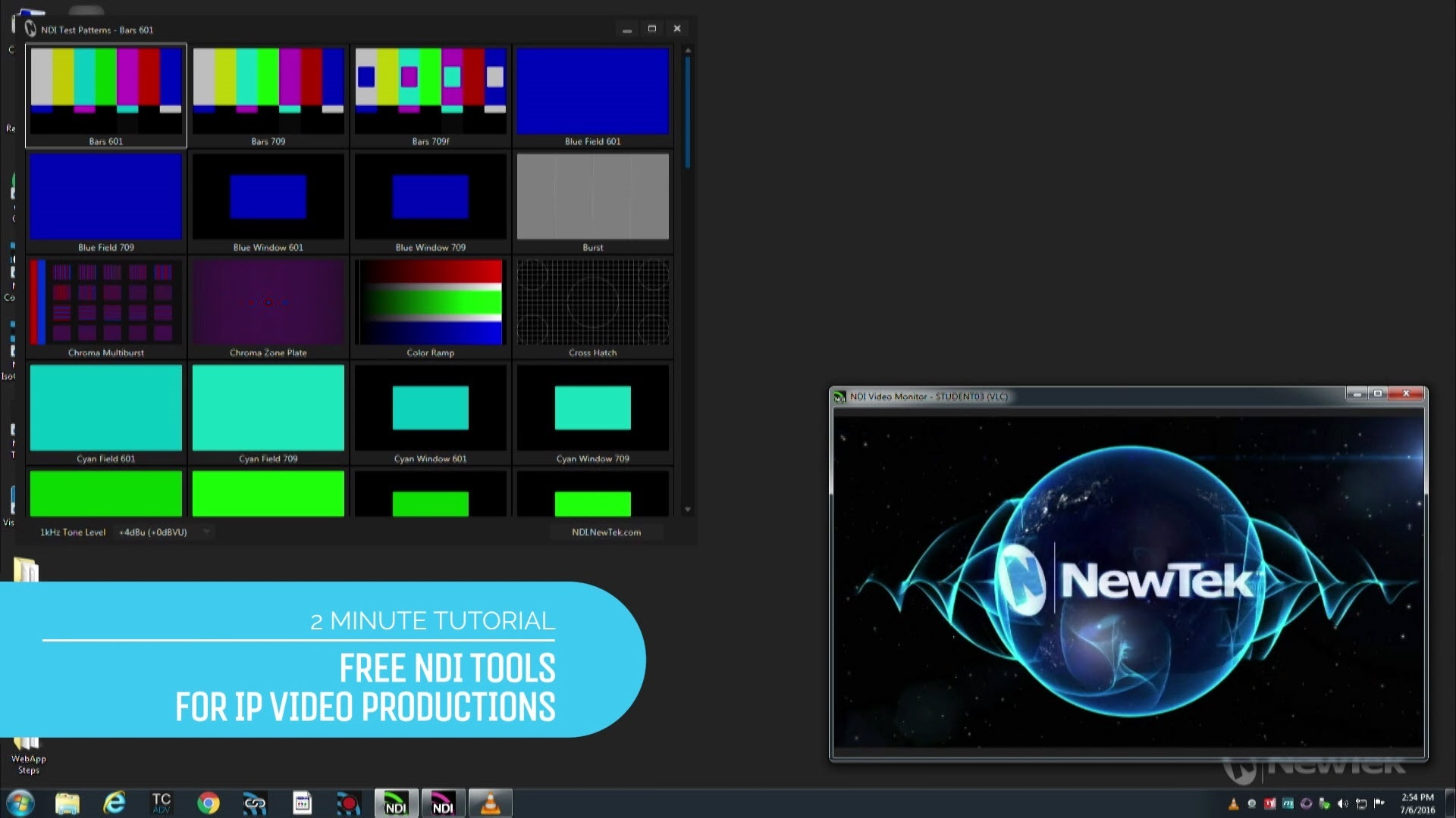 2-Minute Tutorial: Free NDI Tools for IP Video Productions
